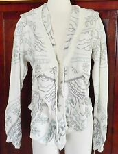 $383 JOHNNY WAS BIYA NAIYNOH JACKET CARDIGAN WRAP EMBROIDERED HOODIE SZ M NWT