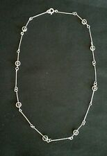Vintage Sterling Silver .925 Beautiful Necklace Amethyst Beads Nice!