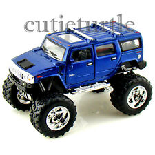 Kinsmart Off Road Big Foot Monster 2008 Hummer H2 SUV 1:40 Diecast Toy Car Blue