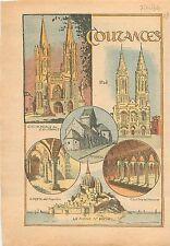 Cathédrale Notre-Dame Coutances Saint-Lô Crypte l'Aquilon Mont Saint-Michel 1934