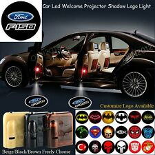 2x For Ford F-150 Brand Emblem Wireless Battery Led 3D Logo Welcome Shadow Light