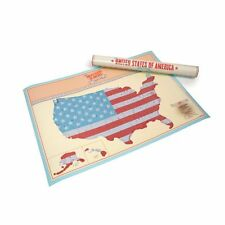 Scratch Map personalised USA Edition poster Luckies - where you have been