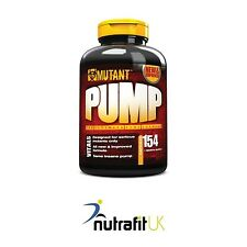 PVL MUTANT PUMP 154 caps nitric oxide NO muscle booster capsules