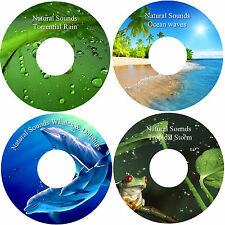 Natural Sounds Whales & Dolphins Ocean Waves Storm & Rain 4 CD Relaxation Set