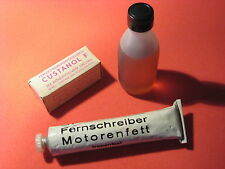 DDR RFT Karl-Marx-Stadt machine oil + CUSTANOL FG60 + motor grease LOT SET LOTE