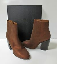 DRIES VAN NOTEN Rust Leather Ankle Boots Shoes Winter 2015 NEW IN BOX Sz 37 $750
