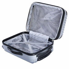 """GLOBALWAY 20"""" Expandable ABS Carry On Luggage Travel Bag Trolley Suitcase Gray"""