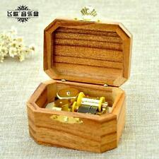 Natural Wood Octagon Wind Up Music Box : Prologue Harry Potter Theme Song