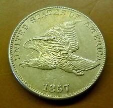 1857 U.S. Flying Eagle Cent - Nice High Grade Condition