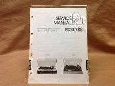 Genuine Luxman PD290/PX99 Turntable Service Manual