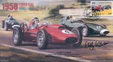 1958b FERRARI D246 AND VANWALL VW(57)s, REIMS F1 cover signed CLIFF ALLISON