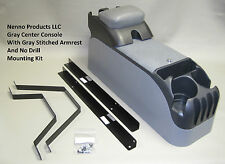 P71 Gray Police Center Console with Gray Armrest & Mounting Kit Crown Victoria