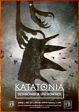 KATATONIA Dethroned & Uncrowned Ltd Ed Discontinued HUGE Poster! Fall of Hearts
