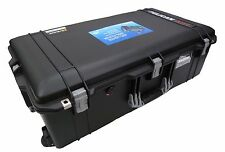 Black with Silver Handles & latches Pelican 1615 Air case With Foam. With wheels