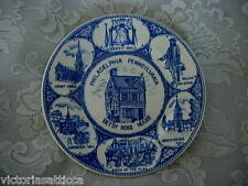 Collectible PHILADELPHIA, PENNSYLVANIA BETSY ROSS HOUSE Cobalt Blue Scenic Plate