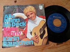 """7"""" Karen Rauschen ALLE MANN AN DECK - MEIN JONNY rare single"""