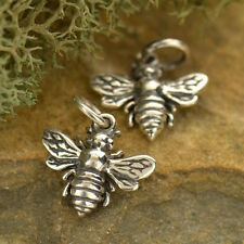 Bee Honeybee Bumble Bee Insect Animal Tiny Charm Pendant 925 Sterling Silver