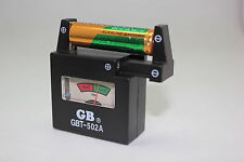 GBT-502A Battery Tester 9V 1.5V AA AAA C D Universal Button Battery Volt Checker