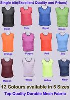 1 FOOTBALL MESH TRAINING SPORTS BIBS Kids/Youth and Adult Sizes