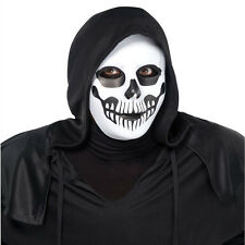 Adults Black & Bone Skeleton Skull Mask Halloween Fancy Dress Costume Accessory