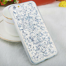 Luxury Bling Glitter Crystal Foil Soft Rubber TPU Clear Phone Case Cover Skin