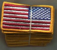 US Army American Flag Color Patch Reverse Side Dealer Lot of 20