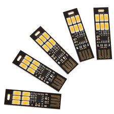 5Pcs Soshine USB Power 6-LED Night Light 1W 5V Touch Dimmer Warm White Light W8