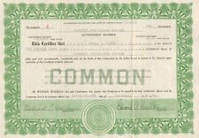 Cosmetic Specialities Company   1939 Illinois stock certificate