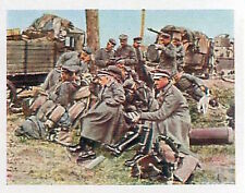 German Soldiers retreat Train Antwerp Deutsches Heer WWI WELTKRIEG 14/18 CHROMO