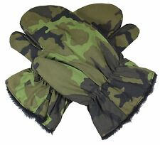 Czech Army 95 PATTERN CAMO WINTER GLOVES - Issued MK Cetr Surplus Fleece Lined