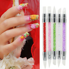 5Pcs/Set 2 Way Nail Art Silicone Sculpture Pen for Emboss Carving Nobby