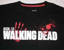 The Walking Dead - bloodspray logo t-shirt - size M - AMC - zombies - walkers