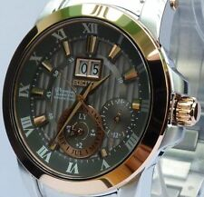 SEIKO PREMIER KINETIC PERPETUAL CALENDAR NEW MENS WATCH SNP114P1