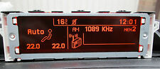 Peugeot 407 RD4 Display Screen Clock Genuine NEW Orange UNLIKE CHEAP YELLOW ONES