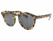 NEW Illesteva Leonard II L2R-6 Ring Tortoise / Grey Sunglasses