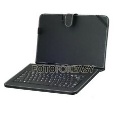 "Leather Cover Case USB 2.0 Keyboard for 8"" Tablet iPad MID PC PDA Android Black"