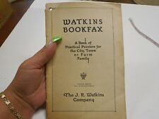 1925 Watkins Bookfax The JR Watkins Company