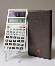 Sharp EL-515 Solar Cell Scientific Calculator with Case Vintage 80s