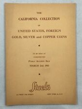 Numismatic Auction Catalogue 1963 California Collection US Foreign Gold Silver +
