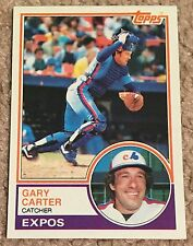 GARY CARTER, 1983 TOPPS CARD IN EXCELLENT CONDITION !!!