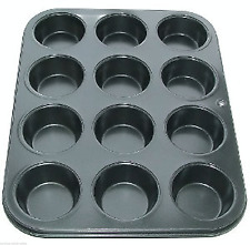 DEEP 12 CUP MUFFIN CAKE BUN TRAY TIN PAN NON STICK -LIMITED LOW PRICE OFFER HOT