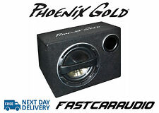 "Phoenix Gold Z112AB 12"" 320W Active subwoofer bass-box with built in amp"