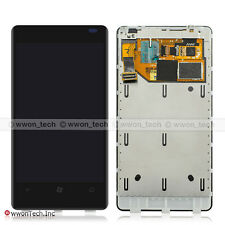 Black Nokia Lumia 800 LCD Display Touch Screen Digitizer Assembly+Frame Replace
