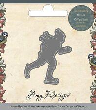 Stanzschablone - Schlittschuhläufer  /  Ice Skater  von Amy Design (ADD10002)