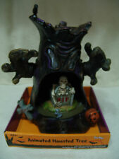 HALLOWEEN ANIMATED HAUNTED MOVING TREE LIGHTS UP PLAYS EERIE SOUNDS FREE SHIP