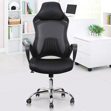 High Back Racing Chair Bucket Seat Office Mesh Gaming Chair Swivel Black New US
