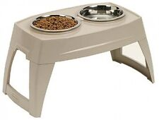 Elevated Dog Bowl Tray Feeder Large Raised Food Water Pet Double Dish Off Ground