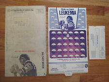 Rare 60s JOE NAMATH Leukemia Society COINBOARD Display w Mailer & Letter NY JETS
