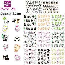 11 Sheets/Lot Panda Cartoon Nail Art Stickers Water Transfer Decals BLE1489-1499