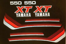 YAMAHA XT550 RESTORATION PAINTWORK DECAL SET 2